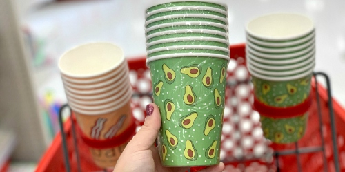 Fun Bacon and Avocado Paper Cups & Socks Just $1 Each at Target