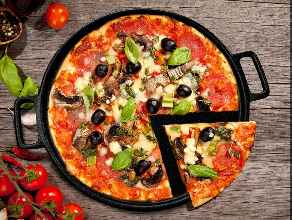Home Complete Cast Iron Pizza Pan Skillet