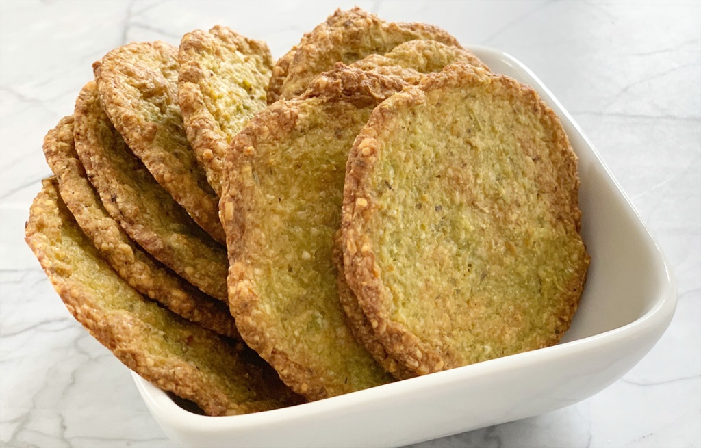 avocado chips in a bowl