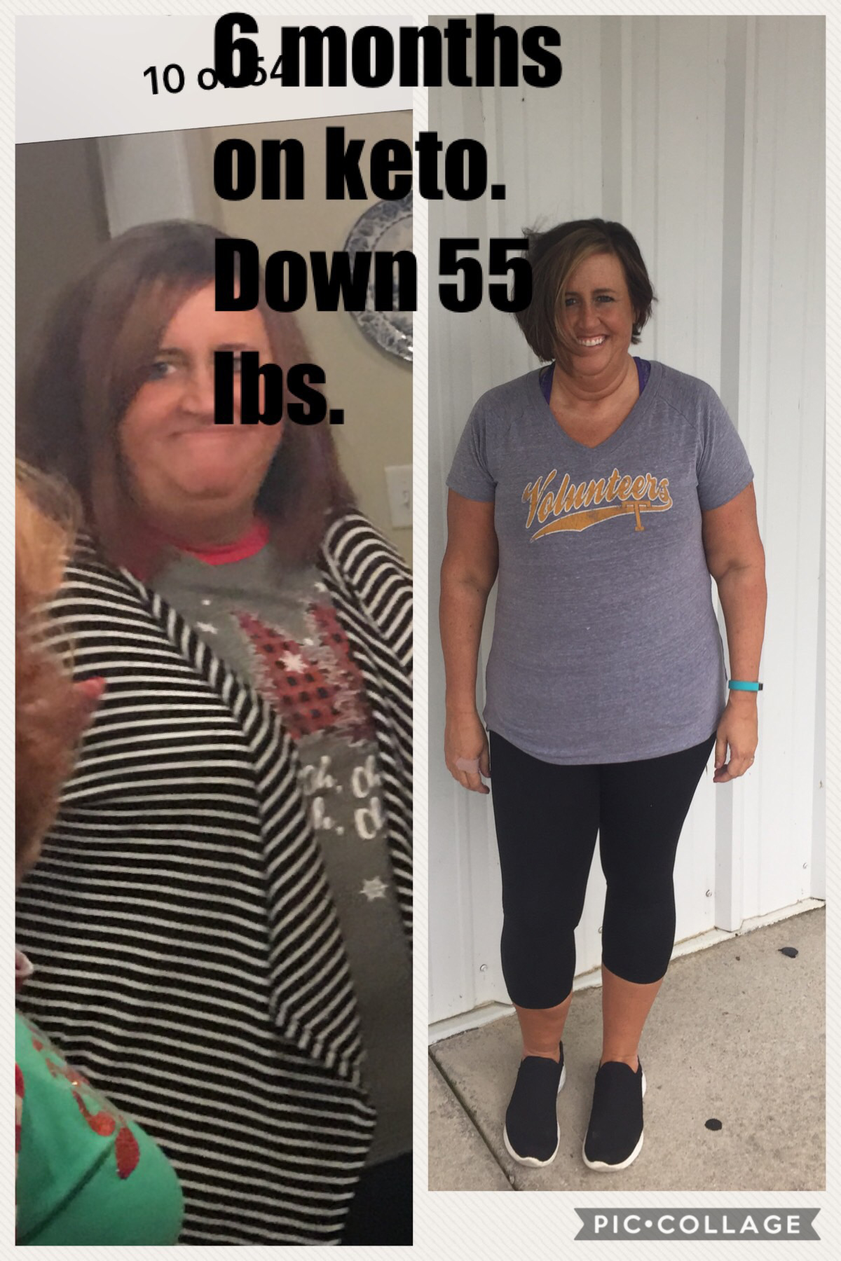 keto success story: before and after shots of candi