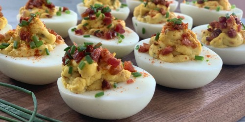 These are the BEST Low-Carb Bacon Deviled Eggs