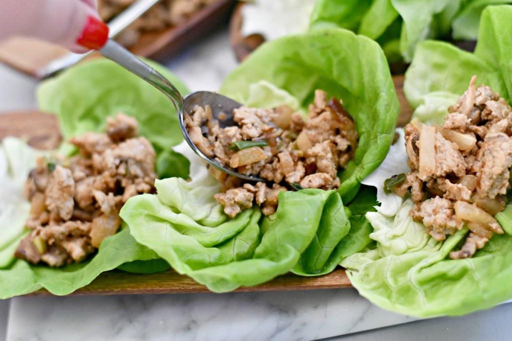 spooning keto asian lettuce wraps