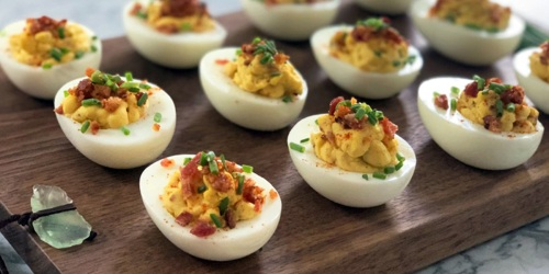 The BEST Low-Carb Bacon Deviled Eggs