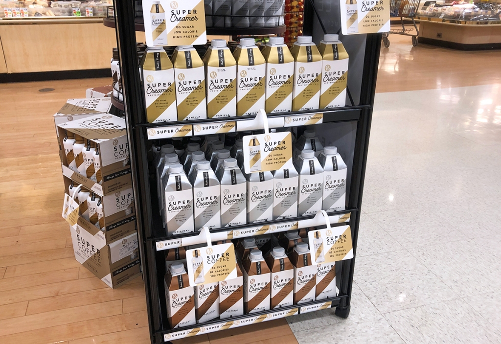 display shelves of kitu super creamer