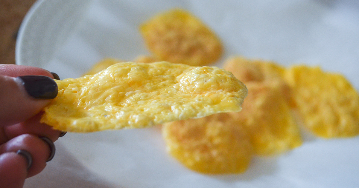keto chips — microwave cheese crisps