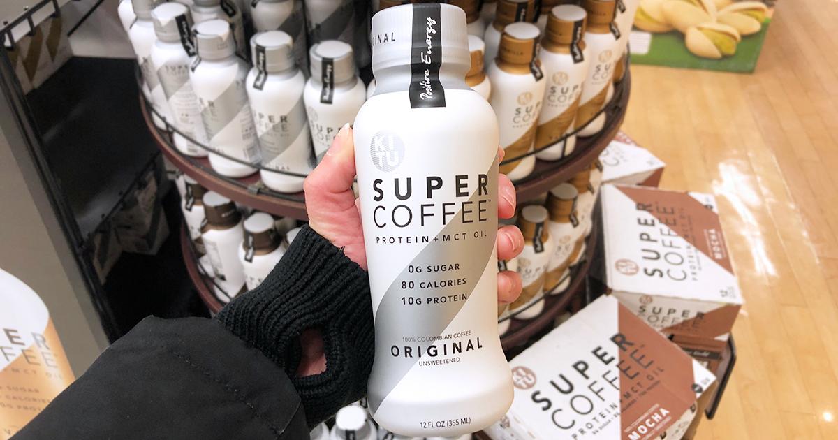 kitu super coffee — close up of kitu super coffee bottle