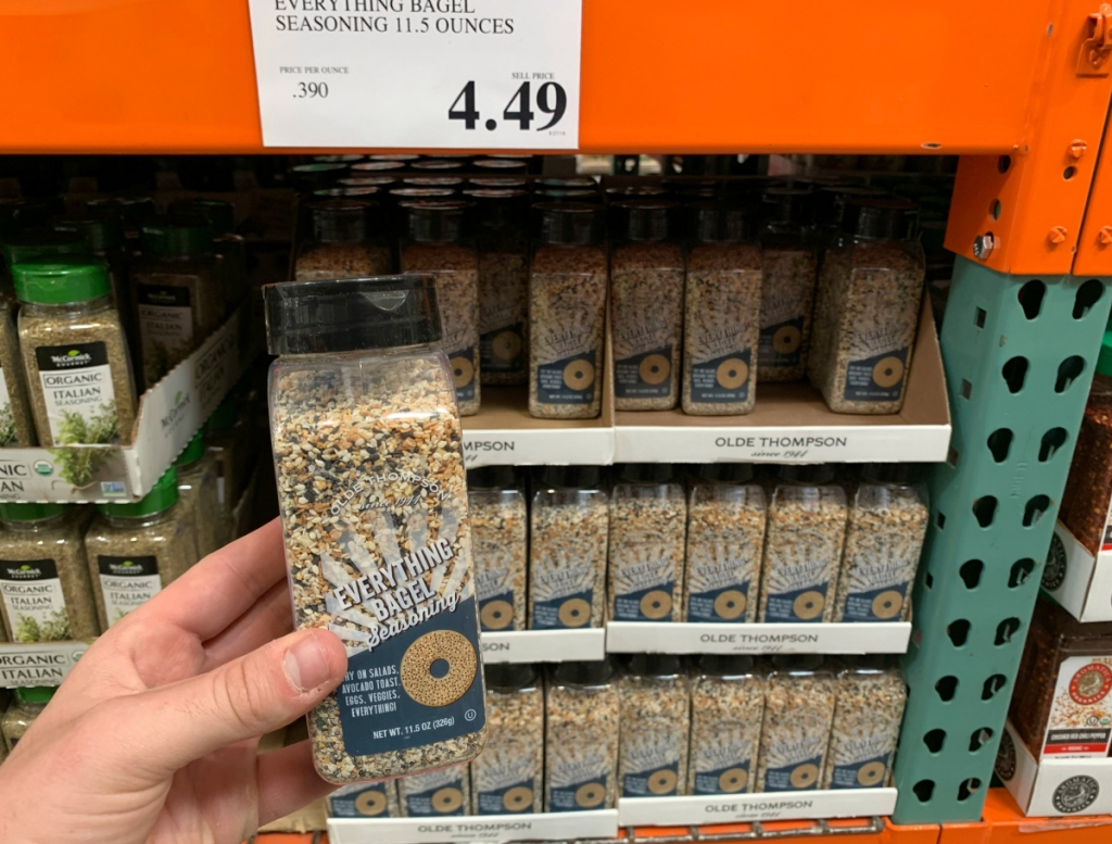 Bagel seasoning at Costco