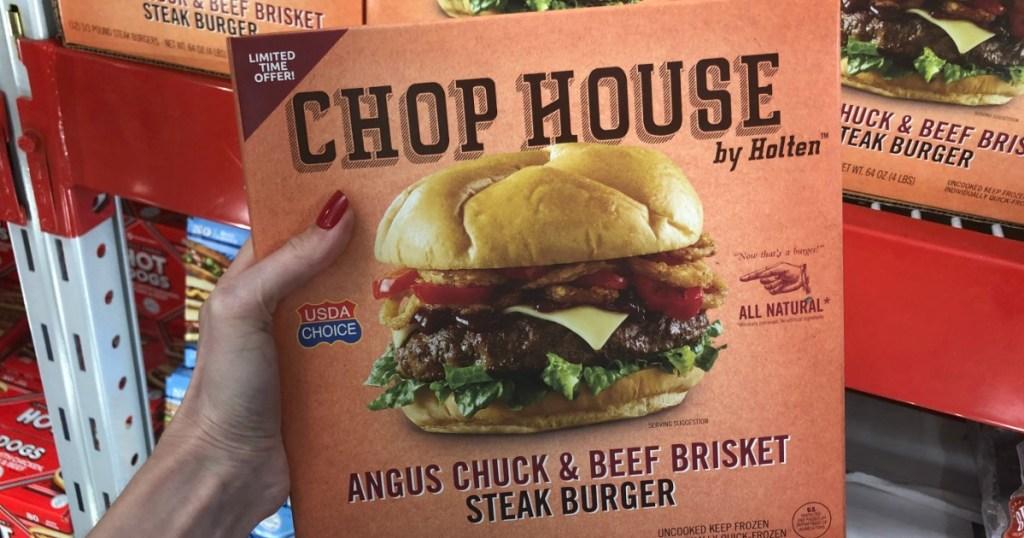 CHOP HOUSE Steak burgers from Sam's Club