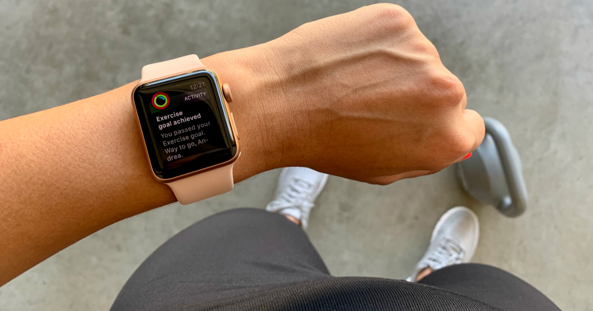 Find Your Trainer app on Andrea's smart watch