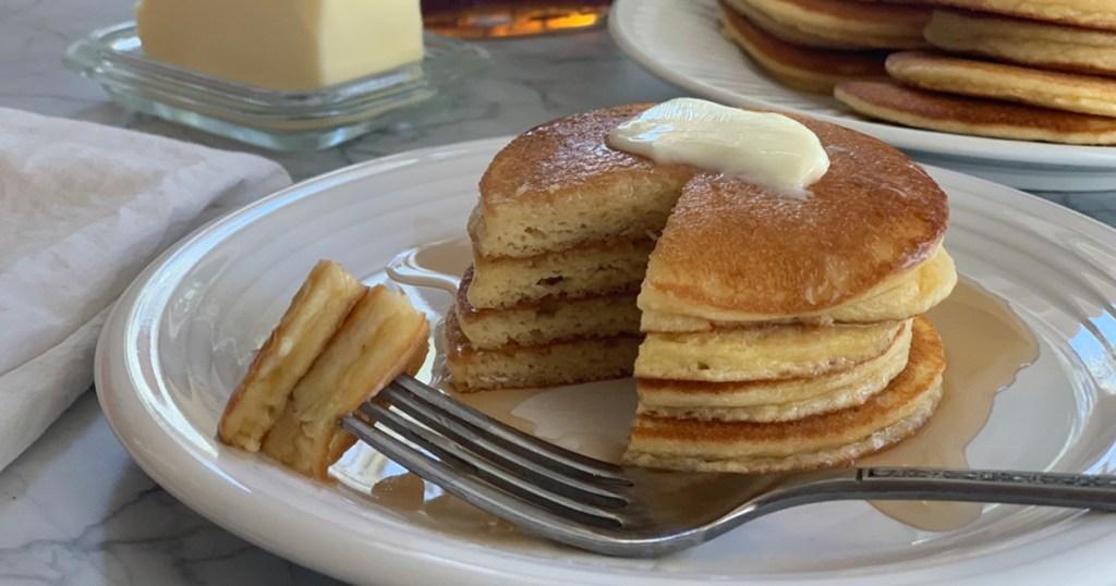 a plateful of keto silver dollar pancakes