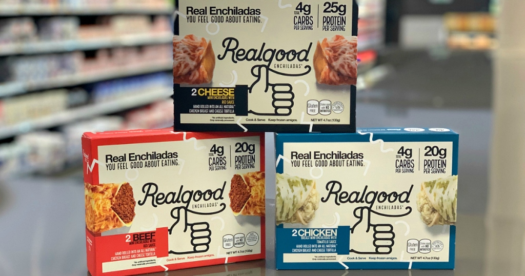 RealGood foods Enchiladas boxes