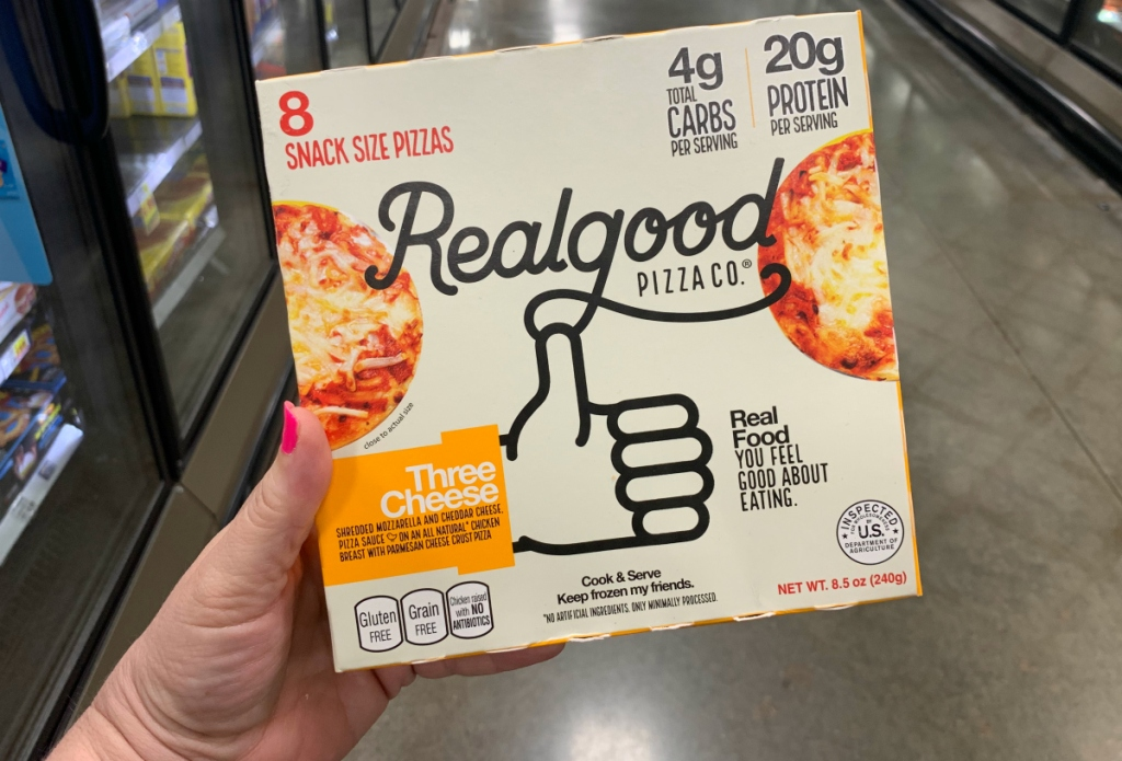 Realgood snack size pizzas