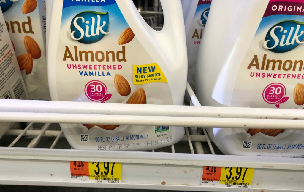 Silk almond milk at Walmart