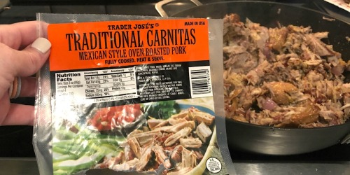 Trader Joe's Pork Carnitas Make for a Yummy & Easy Weeknight Keto Dinner