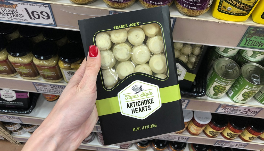 package of artichoke hearts at trader joe's