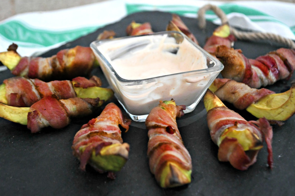 bacon wrapped avocados as a keto snack