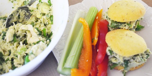 Avocado Chicken Salad (with Bonus Keto Roll Recipe!)