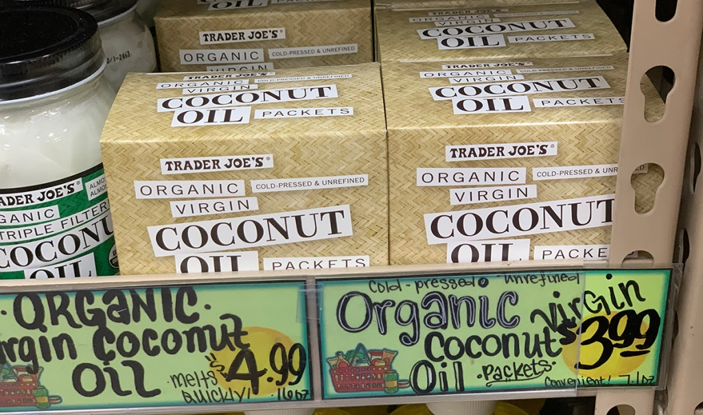 coconut oil packets at trader joes