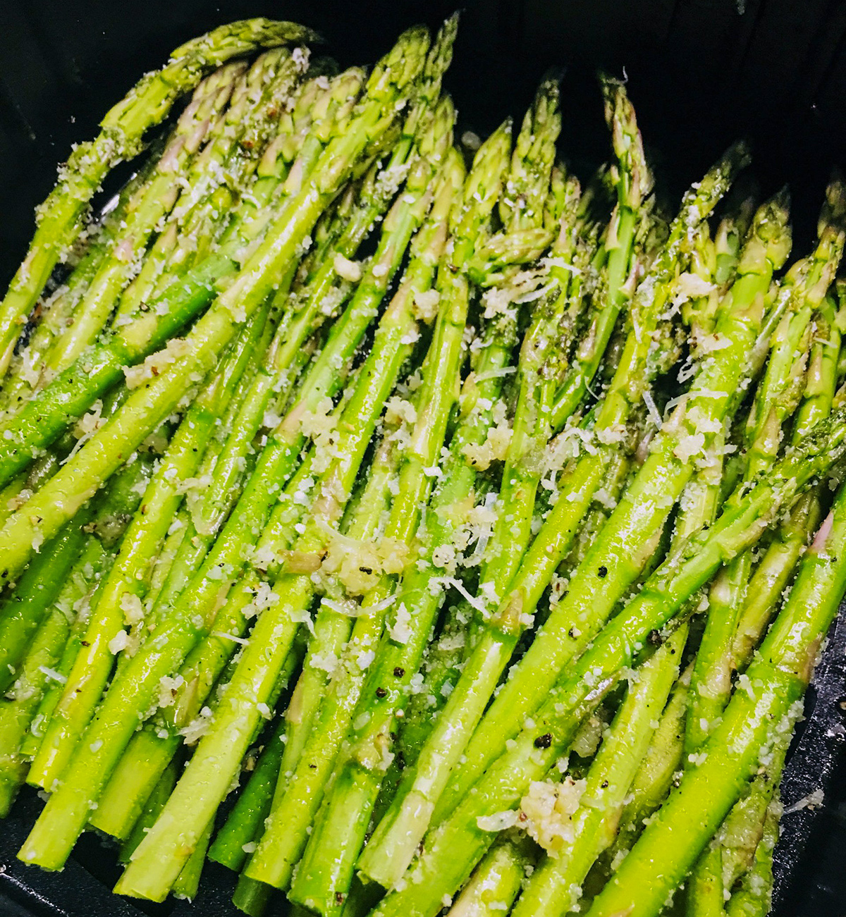 garlic parmesan asparagus spears
