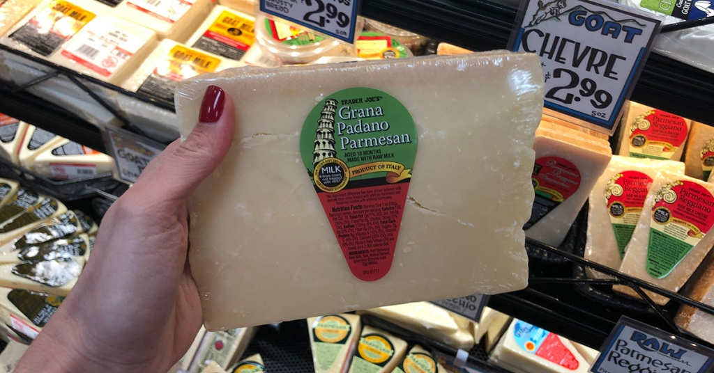 grano padano parmesan cheese at trader joe's