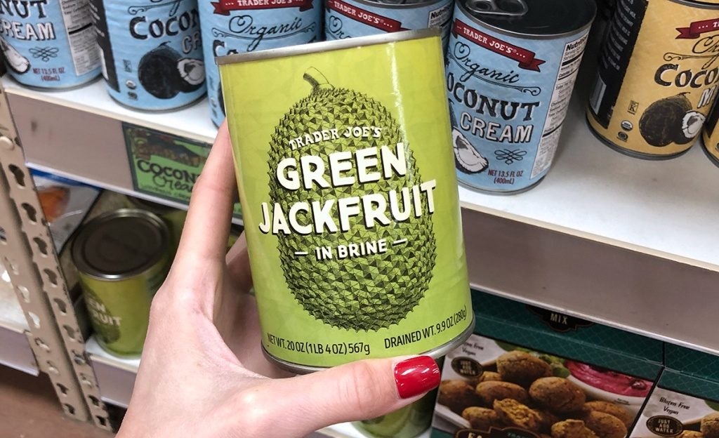 green jackfruit in can from trader joe's