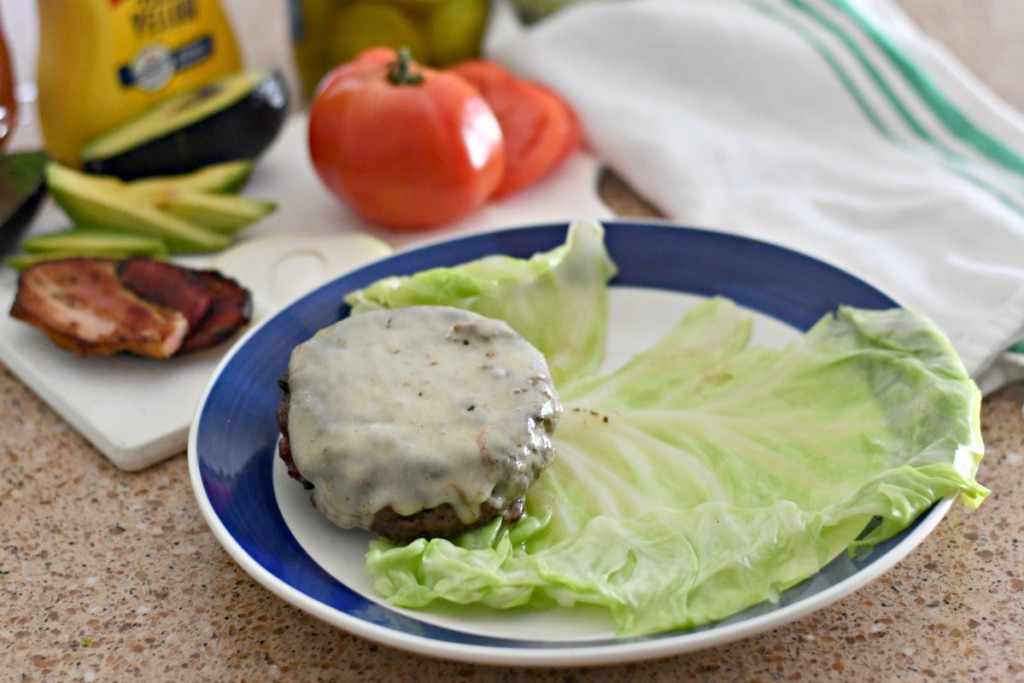how to wrap a keto burger with cabbage