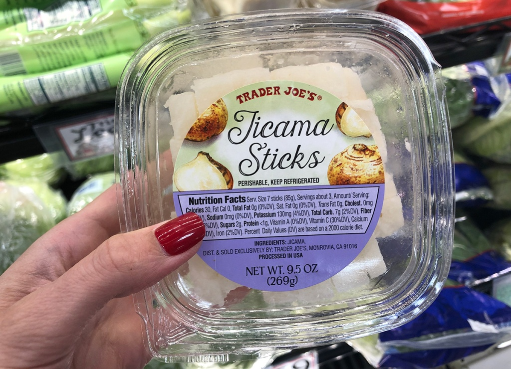 pre cut jicama sticks at trader joe's