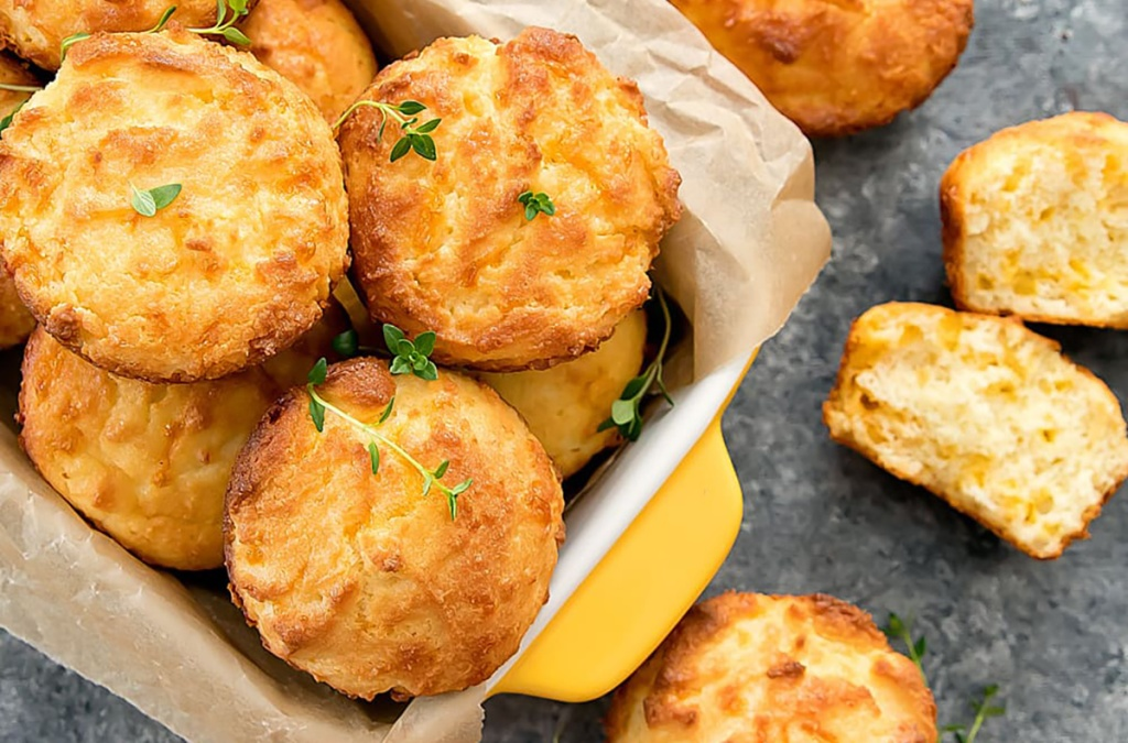 basket of low carb keto biscuits from kirbie's cravings blog