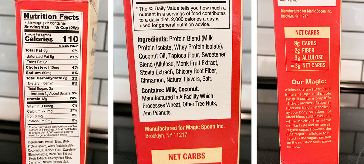 magic spoon nutrition facts