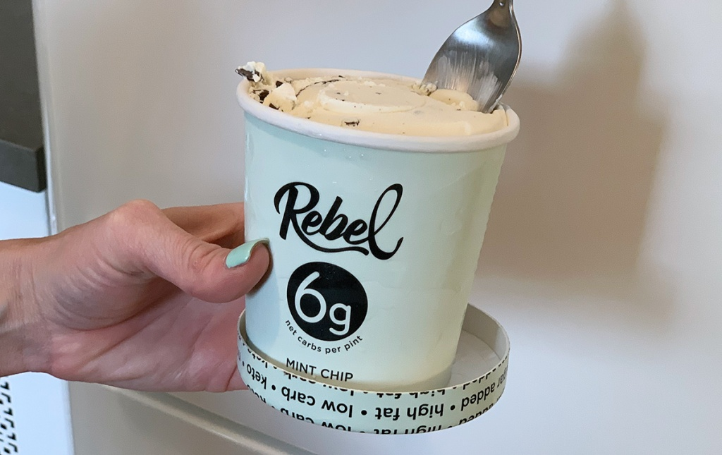 rebel mint chip ice cream