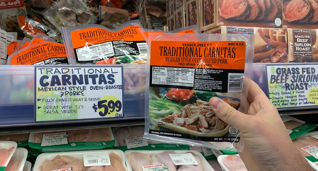 package of trader joe's pork carnitas