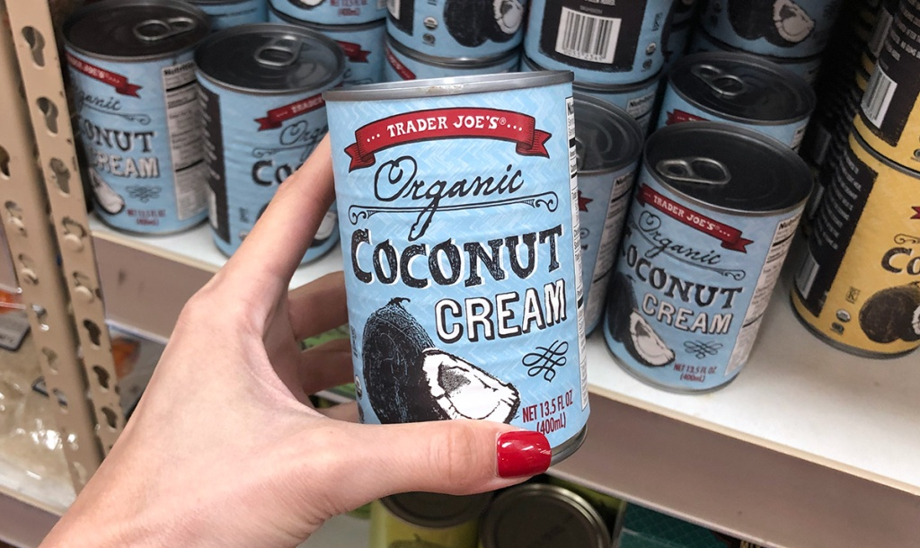 can of trader joe's coconut cream