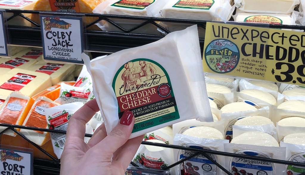 unexpected cheddar cheese at trader joe's