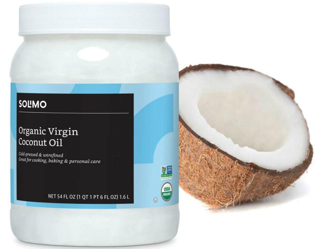 Amazon Brand Solimo Unrefined Organic Virgin Coconut Oil 54oz