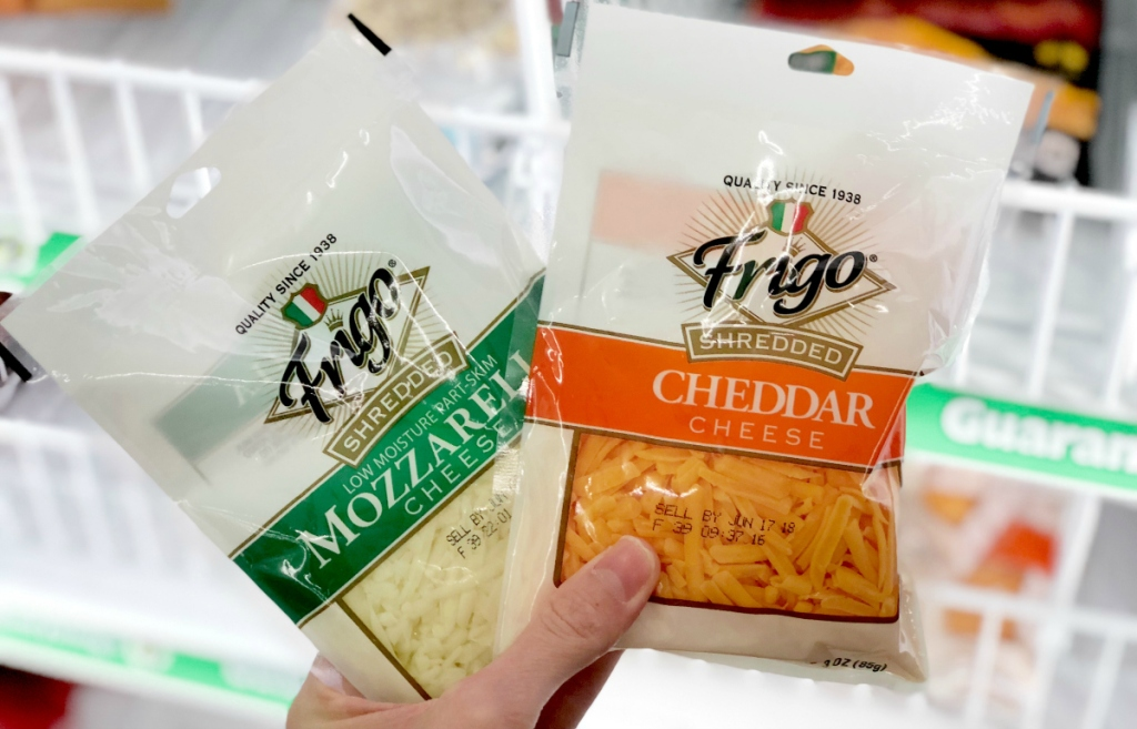 Frigo Shredded Cheese at Dollar Tree