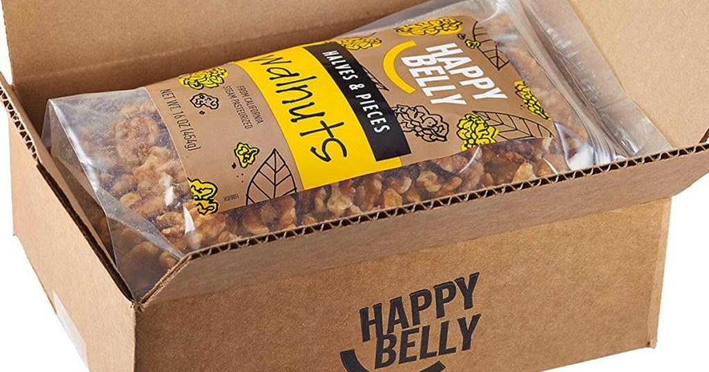 Happy Belly walnut bags in box