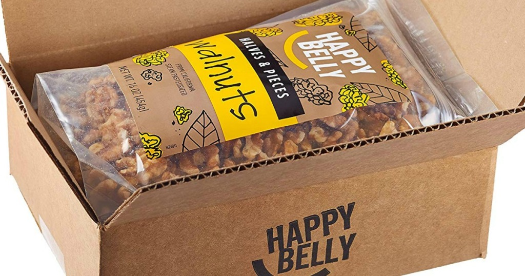 Happy Belly walnut bags in box