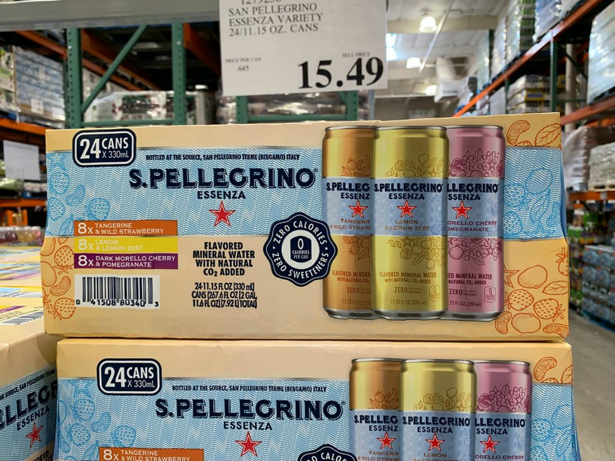 S. Pelligrino flavored water at Costco