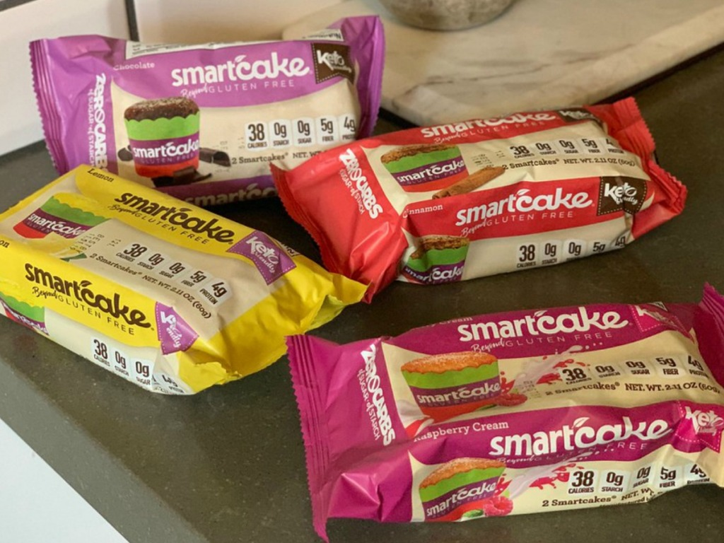 SmartCakes Keto Desserts on a table