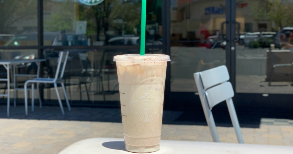 Starbucks Keto Horchata on table