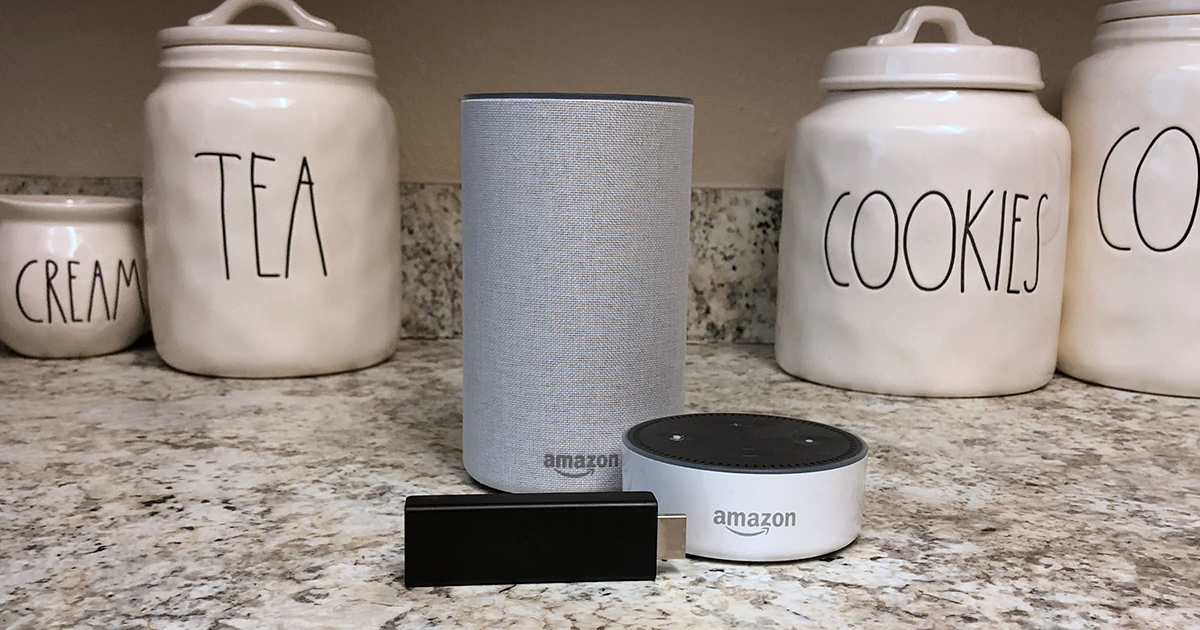 amazon echo devices on kitchen counter that we asked keto questions to