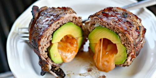 Grill These Keto Bacon-Wrapped Avocado Burger Bombs