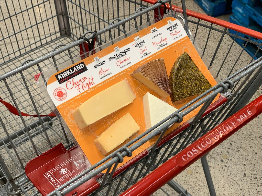 Kirkland Cheese Flight in Costco shopping cart