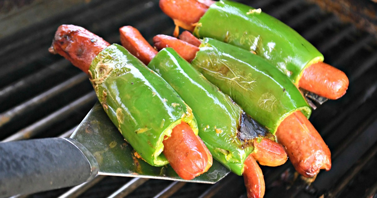 grilling jalapeno wrapped hot dogs