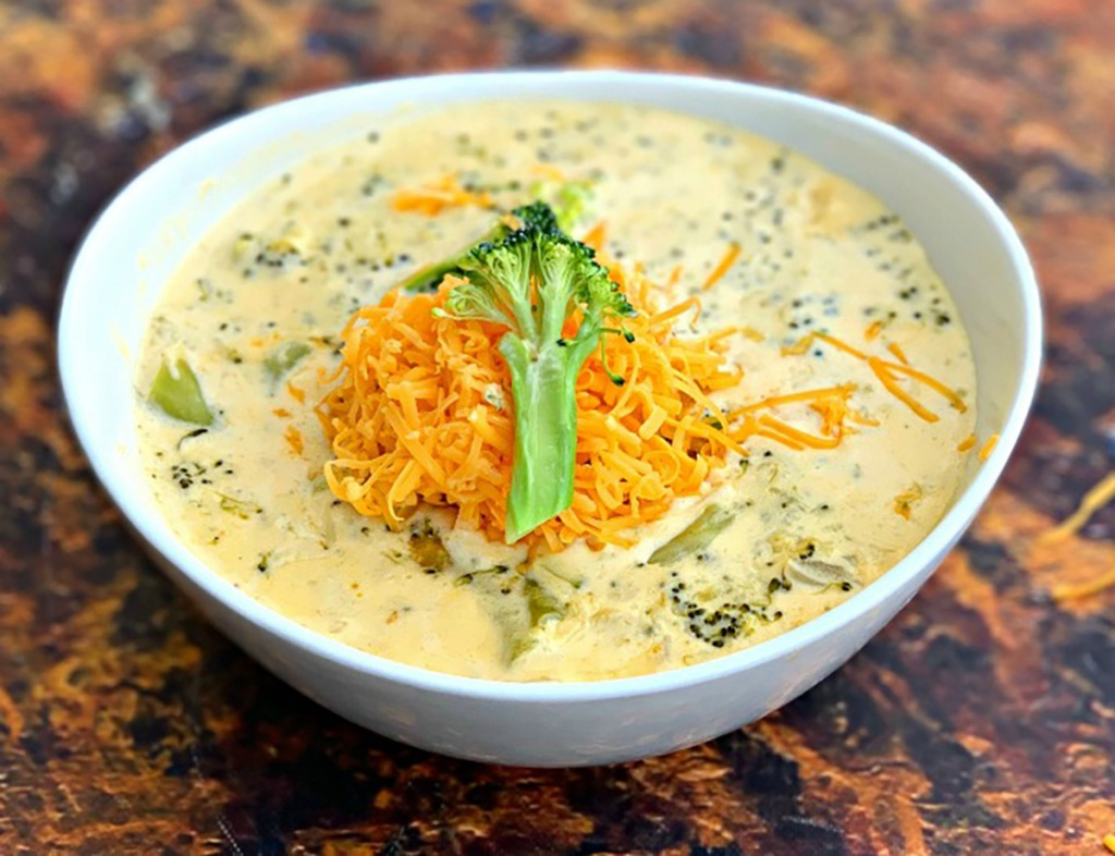 keto broccoli cheddar soup from Stay Snatched