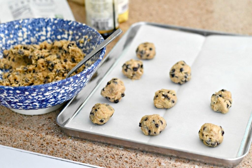 rolling keto coconut cookies