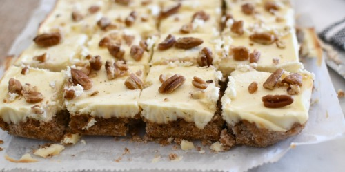 These Keto Pecan Cheesecake Bars Are Almost Too Yummy to Be Low-Carb