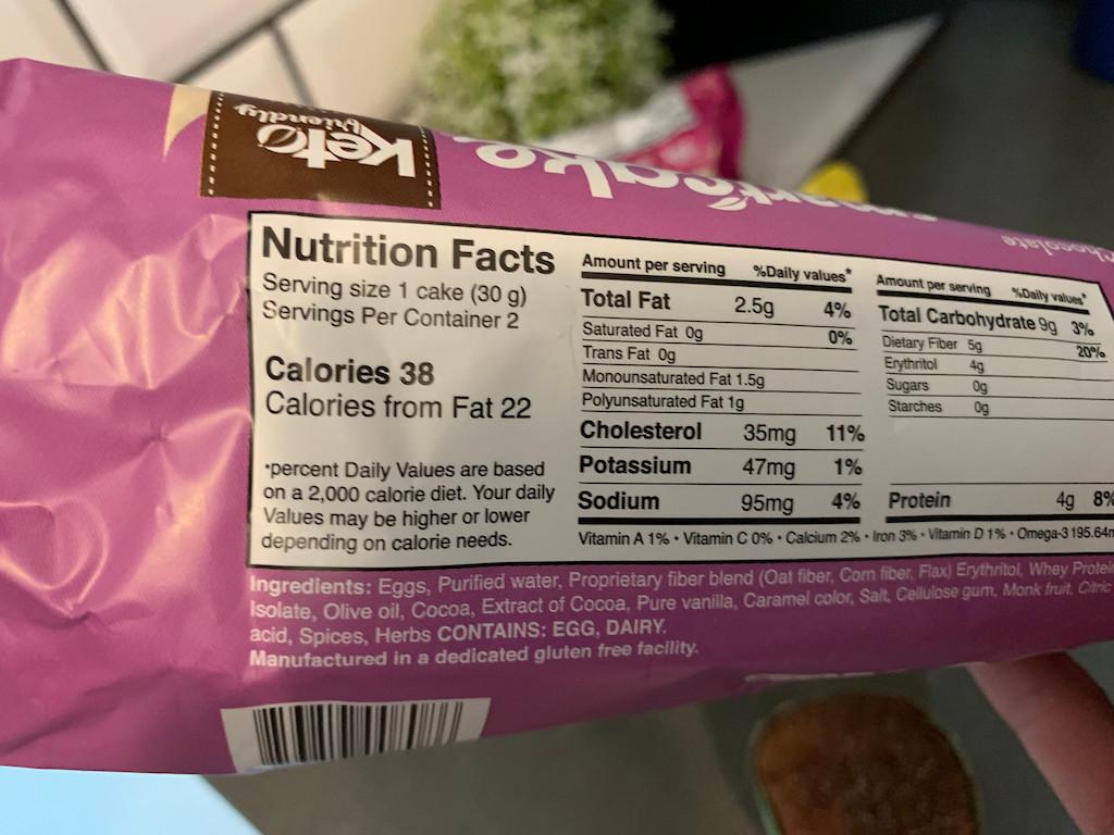 smartcakes nutrition facts