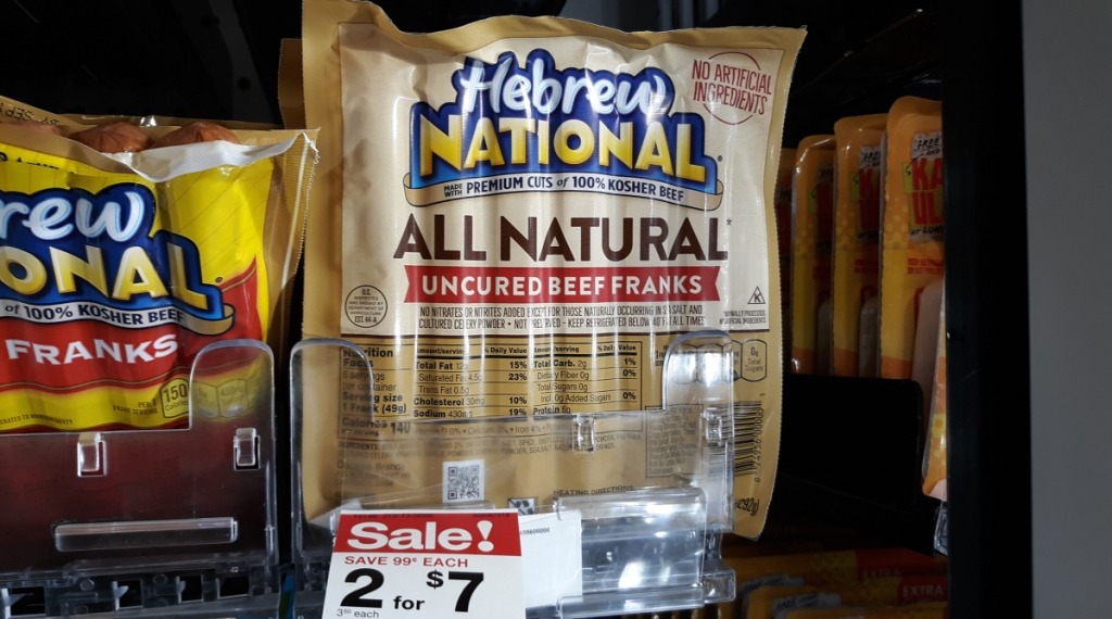 Hebrew National all beef uncured hot dogs