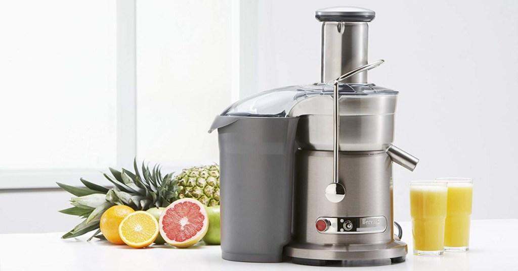 Breville juicer and fruit